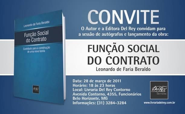 Lançamento; Função Social do Contrato; Editora Del Rey