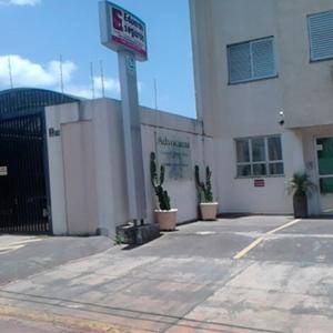 Cactos ornamentam o estacionamento do escritório de Bauru/SP.